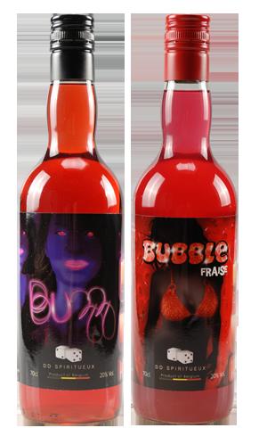 Bubble Fraise et Buzz DD Spiritueux